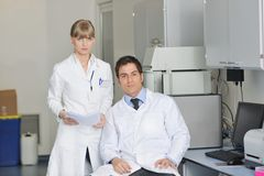 Science people in bright lab Stock Photography
