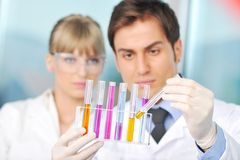 Science people in bright lab Royalty Free Stock Image