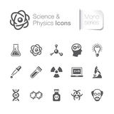 Science & physics related icons Royalty Free Stock Images