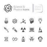 Science & physics related icons Stock Image