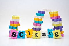 Science puzzle Royalty Free Stock Image