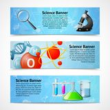 Science realistic banners Stock Photos