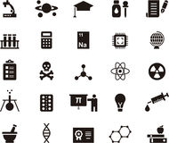 Science related glyph web icons Stock Photo