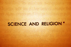 Science and religion Stock Image
