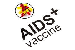 Science research by AIDS Oral vaccine capsule, HIV Royalty Free Stock Images