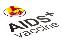 Science research by AIDS Oral vaccine capsule, HIV Royalty Free Stock Image