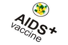 Science research by AIDS Oral vaccine capsule, HIV Royalty Free Stock Photos