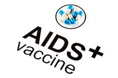 Science research by AIDS Oral vaccine capsule, HIV Royalty Free Stock Photo