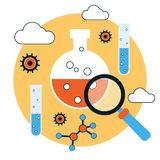 Science research and analysis vector concept Royalty Free Stock Photography