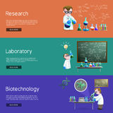 Science Research  Banners Royalty Free Stock Photography