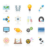 Science, research and education Icons Stock Photography