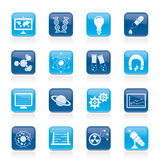 Science, research and education Icons Royalty Free Stock Image