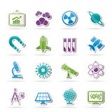 Science, research and education Icons Stock Images