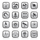 Science, research and education Icons Stock Image