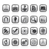 Science, Research and Education Icons Royalty Free Stock Photo