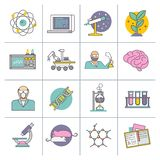 Science And Research Flat Line Royalty Free Stock Photo