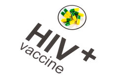 Science research by HIV Oral vaccine capsule, aids Royalty Free Stock Photos