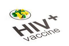 Science research by HIV Oral vaccine capsule, aids Royalty Free Stock Photo