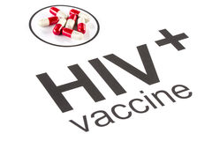 Science research by HIV Oral vaccine capsule, aids Royalty Free Stock Image