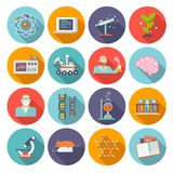 Science And Research Icon Flat Stock Photo