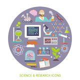 Science And Research Icon Flat Stock Images