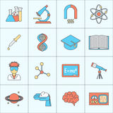 Science and research icon flat line Stock Image