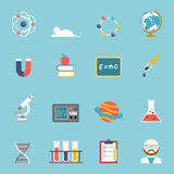 Science And Research Icon Set Royalty Free Stock Photography