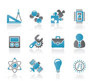 Science and Research Icons Royalty Free Stock Photos
