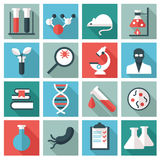 Science and research icons Stock Images