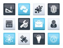 Science and Research Icons over color background. Vector Icon set vector illustration