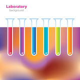 Science and Research - laboratory facilities - colored tubes Stock Photos