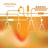 Science and Research - laboratory facilities - orange background Royalty Free Stock Photos