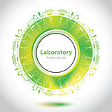Science and Research - laboratory research - circle element Stock Image