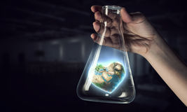 Science research and test . Mixed media Royalty Free Stock Photo