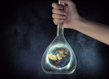 Science research and test . Mixed media Stock Images