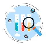 Science research vector concept Stock Image