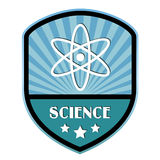 Science retro label. Isolated on white Royalty Free Stock Images