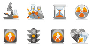 Science and safety icons set Royalty Free Stock Photo