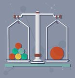 Science scales for chemical experiment Royalty Free Stock Images