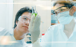 (SCIENCE) Scientists are certain activities on experimental scie stock photography