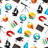 Science, seamless background Royalty Free Stock Photos