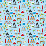 Science seamless pattern Royalty Free Stock Images