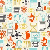 Science seamless pattern in flat design style Stock Images