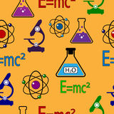 Science seamless pattern. Stock Images