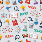 Science seamless pattern. Vector illustration. Stock Photography