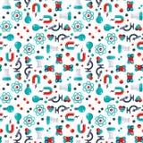 Science seamless pattern vector illustration