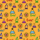Science seamless pattern. Royalty Free Stock Photo