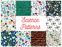 Science seamless patterns Royalty Free Stock Photo