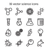 Science set icons Stock Photography