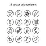 Science set icons Stock Image